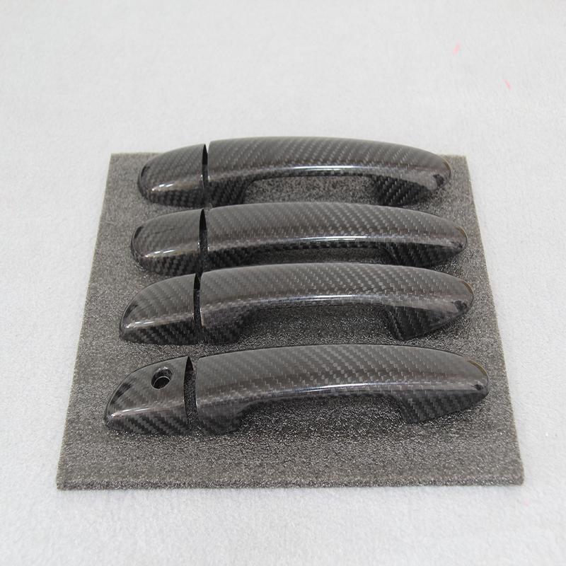 Online Cheap Carbon Fiber Exterior Door Handles Doorknob Decoration