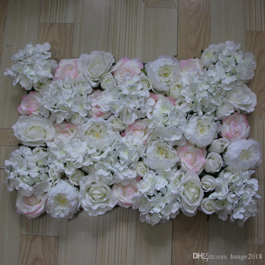 Artificial silk Light color rose white peony flower wall wedding background lawn/pillar road lead market decoration