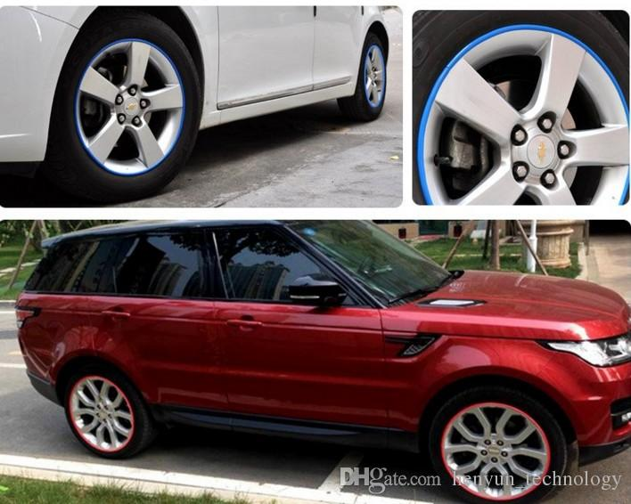 2018 8m Roll Fashion Car Wheel Hub Tire Sticker Car Decor Styling