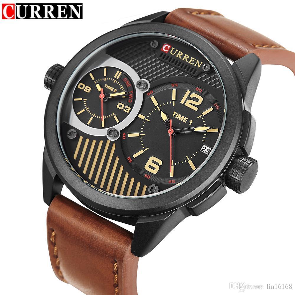 bfb9360b0fa Relogio Curren 8249 Watch Men S Quartz Watch Military Sports Watches Men  Luxury Brand Men Double Movement Calendar Quartz Wristwatch Watch Deals  Online ...