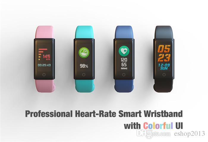 2017 bluetooth armband mit herzfrequenzmesser blutdruck smart watch für ios android smartphone smartwatches aktivität typ vibrierende