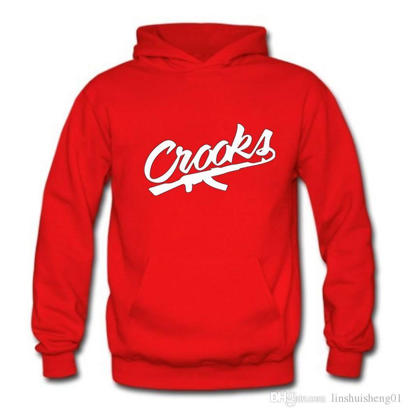 Cotton long Sleeve Mans hoodie Hip Hop Male tracksuit black brand clothing 2017 autumn Crooks And Castles Mens sweatshirt