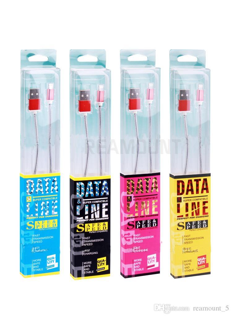 Kunststoff PVC-Verpackungskasten-Verpackung für Micro-USB-Kabel Paketboxen Datenleitungskabel Ladegerät nach Maß