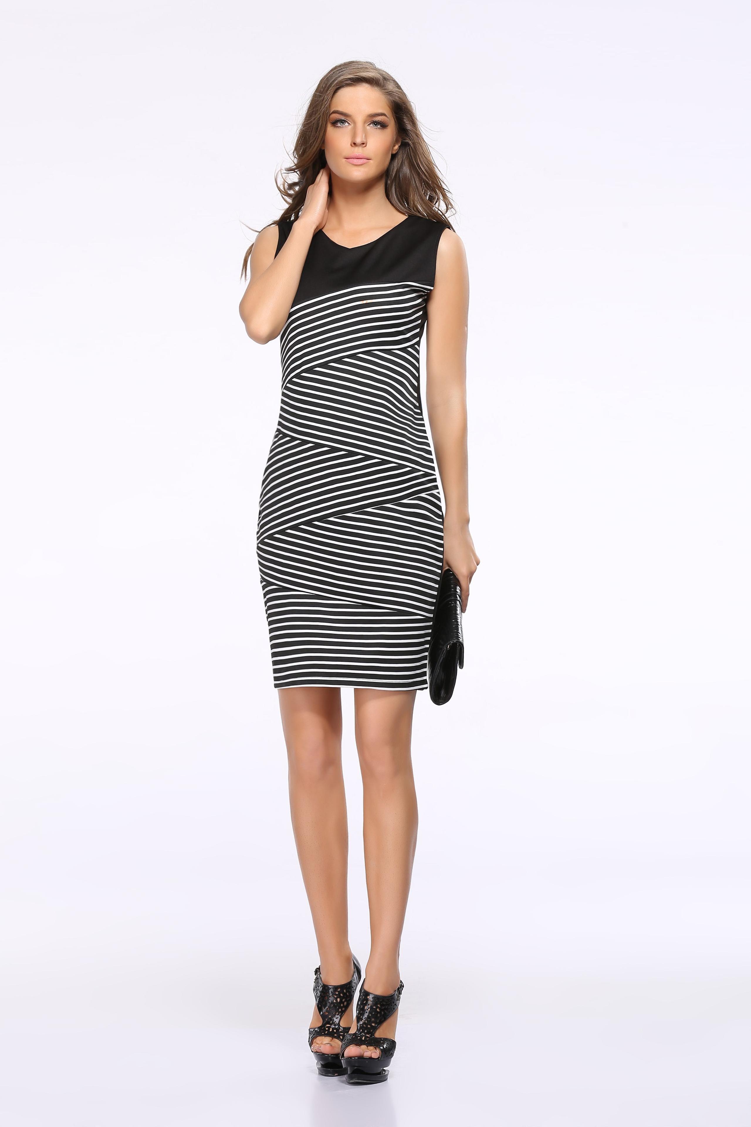 Striped Casual Dress