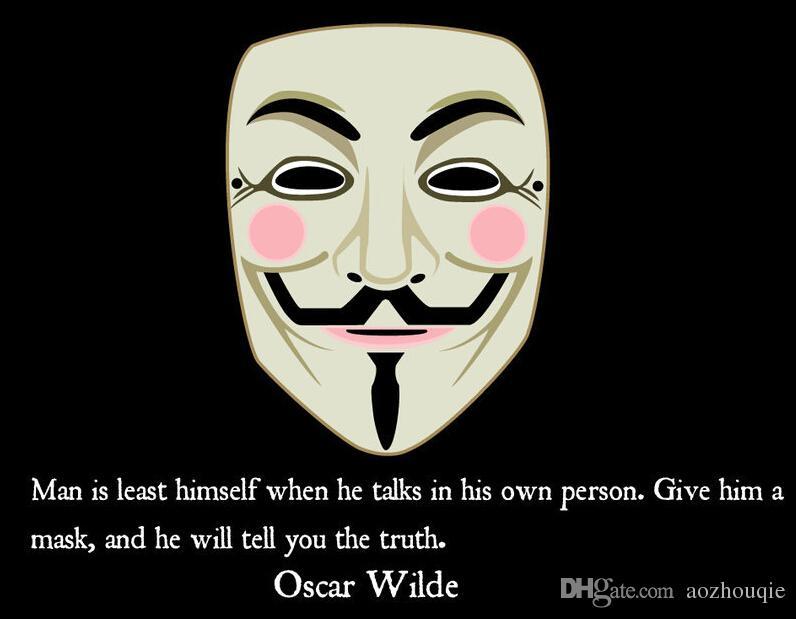 Toptan Guy fawkes maske adam masquerade parti Vendetta Fawkes maske dans maske çünkü Cadılar Bayramı Korku