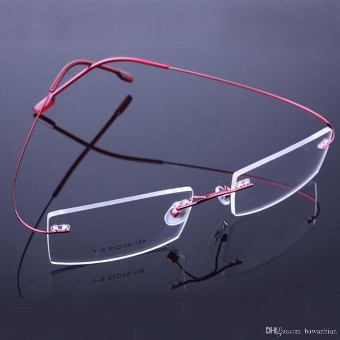 c3e9e35654 2017 Retail Fashion Rimless Glasses Frames Fashion Memory Titanium  Eyeglasses Frames Prescription Optical Frames Full Frame Reading Glasses  Gel Reading ...