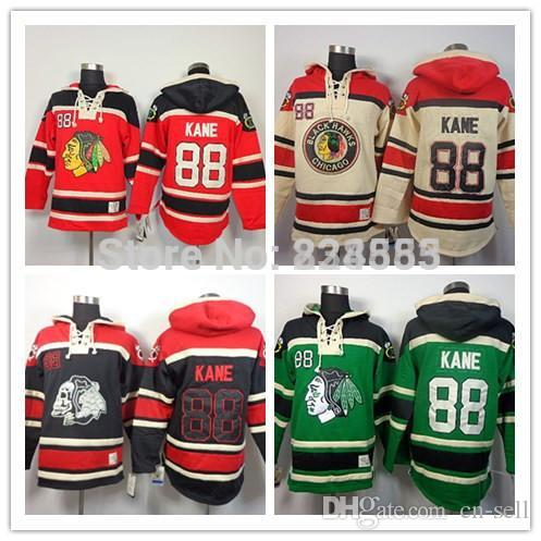 New Chicago Blackhawks Hoodies Jerseys  88 Patrick Kane Old Time Hockey Hoodies  Sweatshirts Black Skull Green Red Beige M 3XL UK 2019 From Cn Sell 11382819d