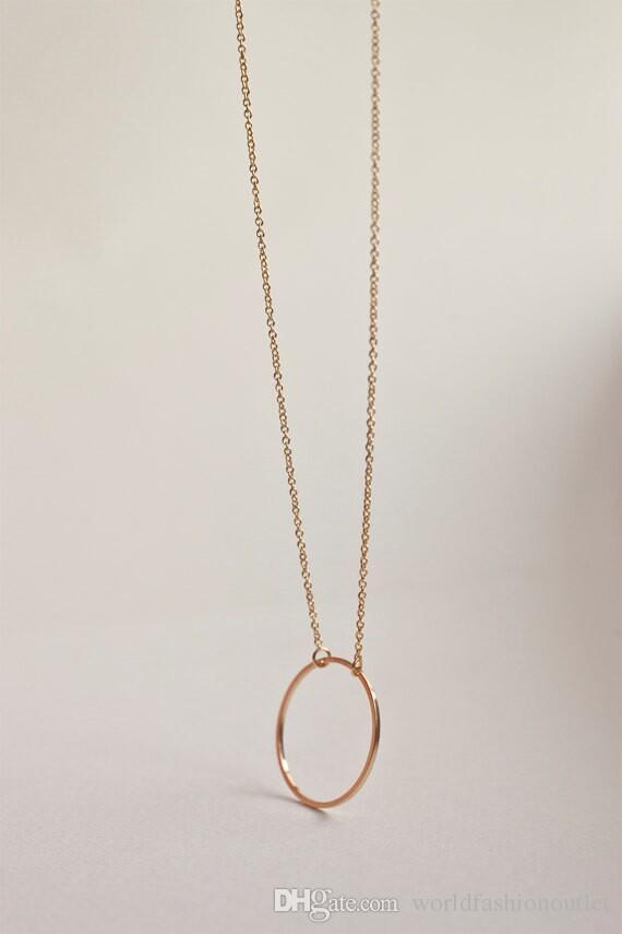 Modeschmuck Frauen Retro Halskette Kette Einfache Kreis Ring Aussage Bib Chunky Kragen Anhänger Halsketten Charm Sexy modische Schmuck