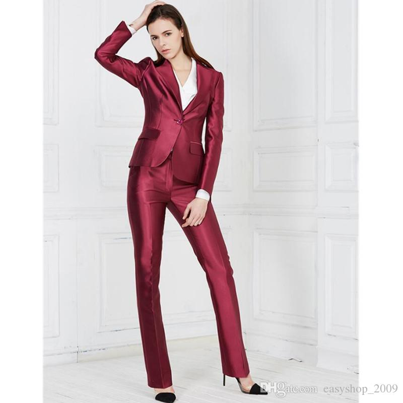 2018 Female Career Suits Satin Custom Formal Occasions Suits Ol Suit