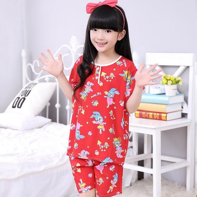 Çocuklar Karikatür Pijama Pijama Set sevimli Bebek Kız Pijama ev tekstili Loungewear gecelik IÇIN 1-3 T ücretsiz kargo