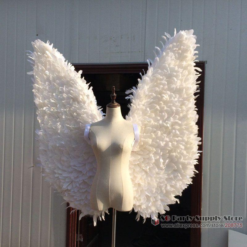 ali di piume Nuovo COS costume bianco di angelo Automobile Exhibition prestazione della fase sfilata di visualizzare le riprese puntelli trasporto libero di SME