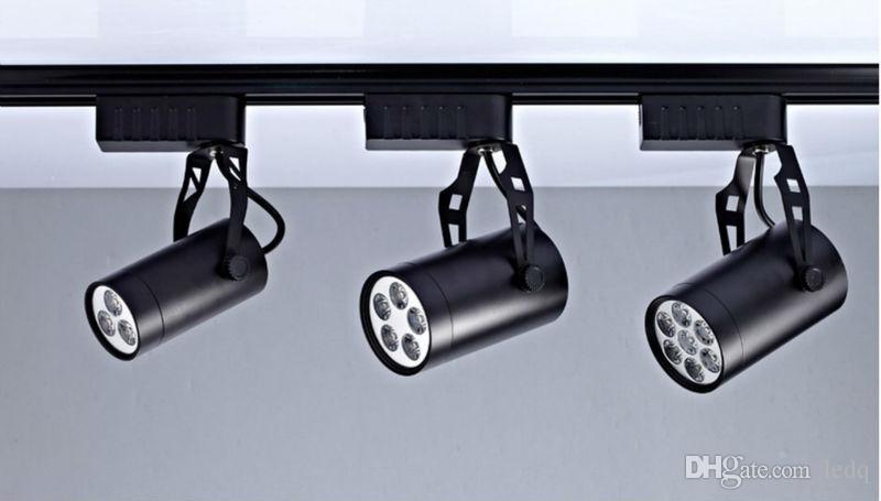 1m Rail Rail 3 Accessori cavi Connettori di tracciamento Proiettori in alluminio universale faretti a soffitto a LED Illuminazione Down Lampada bianca nera