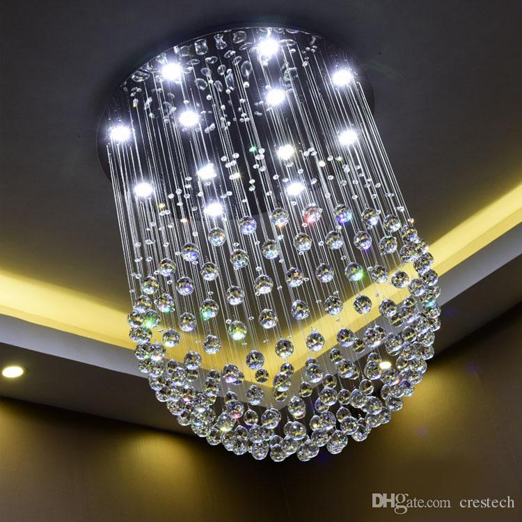 Neuer moderner Kristallleuchter der Kugel-LED K9 großer Leuchter beleuchtet modernen Kristallleuchter des Wohnzimmers GU10 der Leuchter