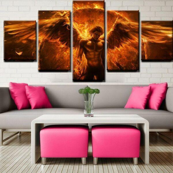 5 Panel Personalized Magical Canvas Art Painting Living Room Wall Decor  Body Art Gift Painting HD Pictures Body Art Painting Picture Home  Decoration Canvas ...