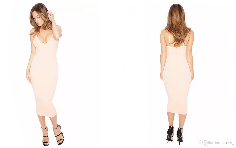 i Europa e Stati Uniti sexy sottile elastico profondo scollo a V cinghie vestito stretto vestito sexy discoteca vestito