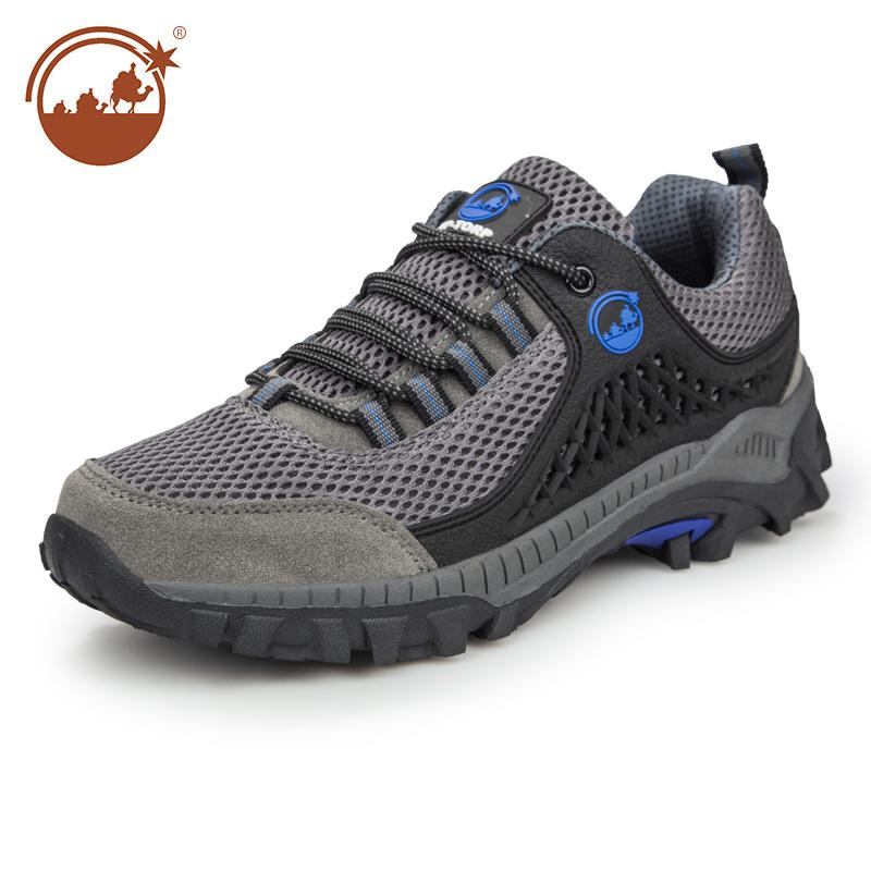 Men's Outdoor Big Size Breathable Mesh Hiking Shoes Size US13 Grey