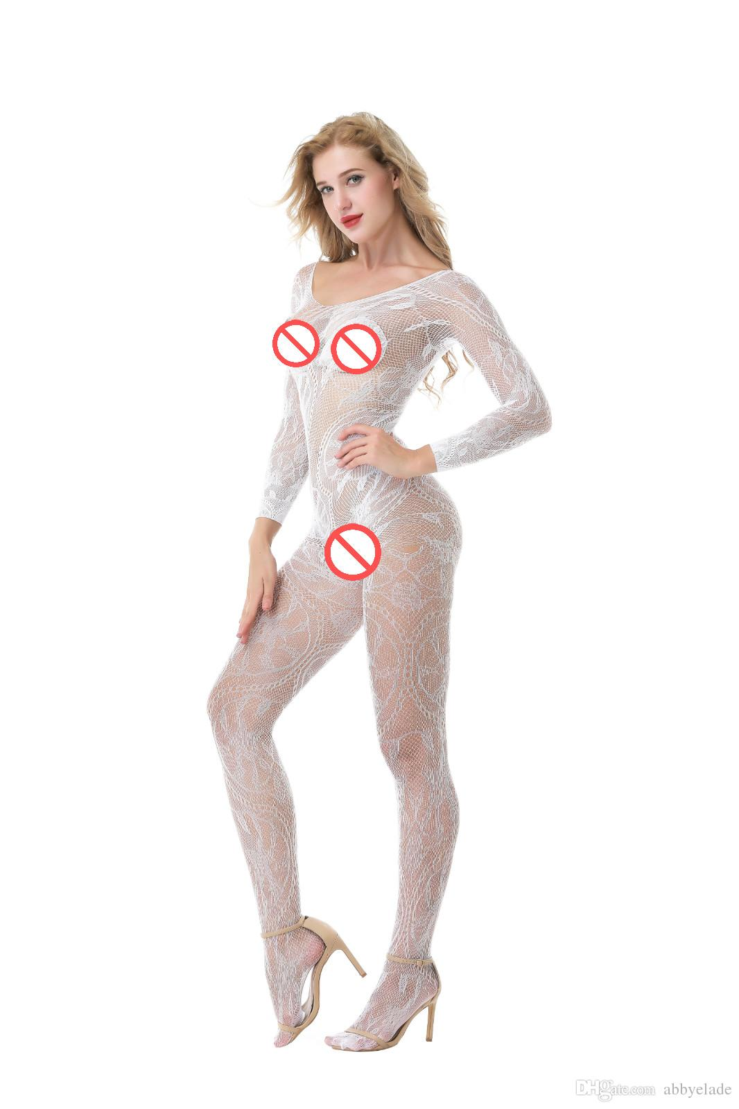 Sous-vêtement Onesie Crotchless Body Big Dragon Jacquard Filets De Pêche Bas Sac Net Temptation Collants Sexy Bas Pyjamas Serrés