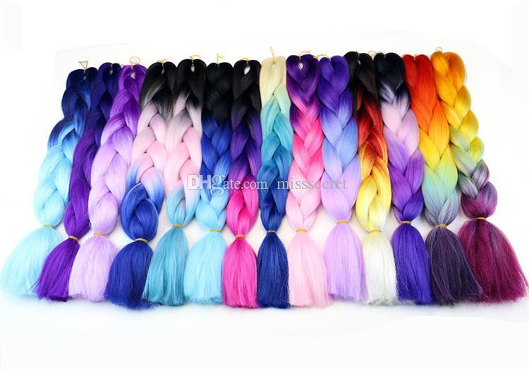 Kanekalon Jumbo Braid cheveux outil sénégalais Twist 24 pouces 100g 55 couleur xpression synthétique Tressage cheveux outil
