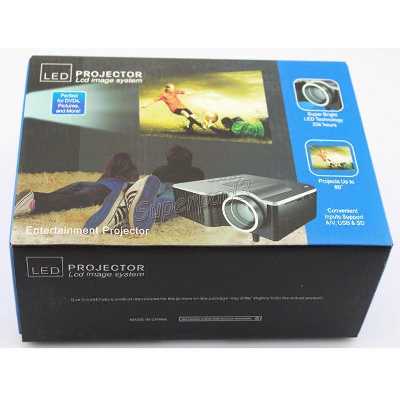 UC28+ Pico LED Digital Video Game Cinema Projectors Multimedia Player Input AV VGA USB SD HDMI Projector Built-in Speaker Data Show Free DHL
