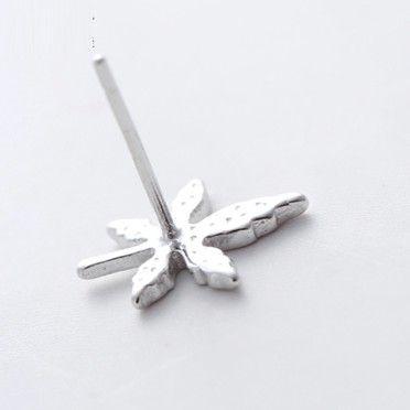 Ahornblatt Ohrstecker S925 Silber Sterling Ohrstecker Geschenke für Mädchen / Damen Ahorn Leave Ohrstecker