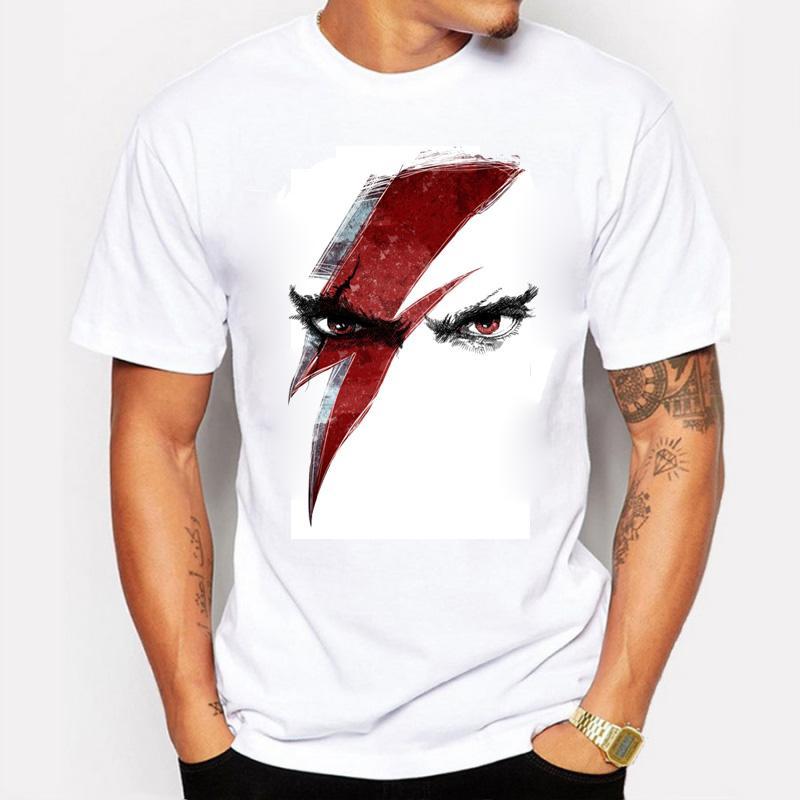 Novo 2016 Moda Verão T Shirt Homens Memorial Heróis David Bowie 100% Algodão Confortável Homem T-Shirt de Fitness Homme Roupas Masculinas