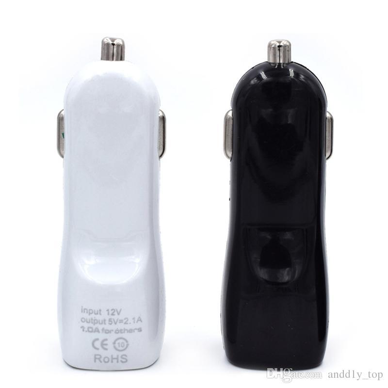 Auto-Ladegerät Dual USB Port 5V 2.1A / 1A IN-Auto-Ladegeräte für iPhone X 8 7 und 6S Samsung Galaxy S7 S8