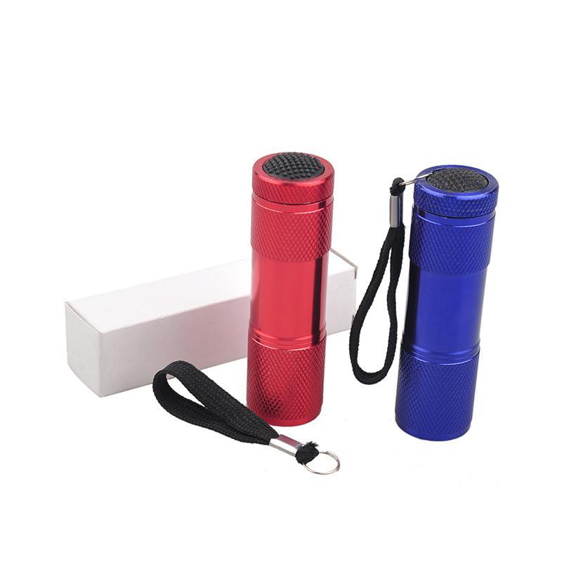 Aluminum Alloy Portable UV Flashlight Violet Light 9 LED 30LM Torch Light Lamp Mini Flashlight 2503029
