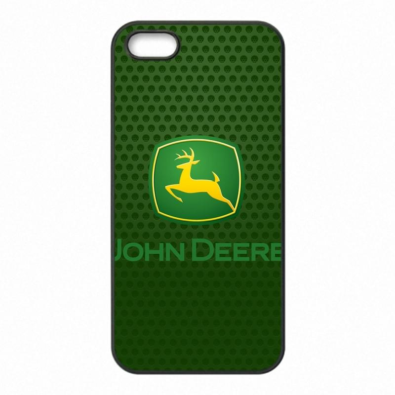brand new 08db2 df157 John Deere logo Phone Covers Shells Hard Plastic Cases for iPhone 4 4S 5 5S  SE 5C 6 6S 7 Plus ipod touch 4 5 6