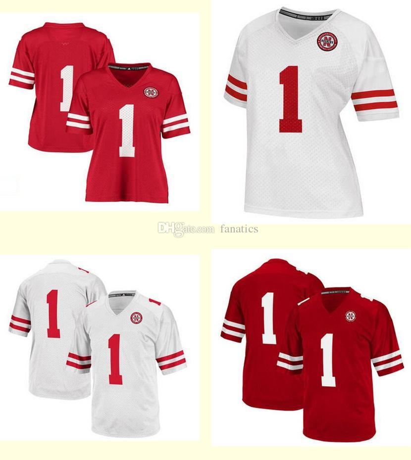 best service ec57c f6a25 mens nebraska cornhuskers customized red jersey