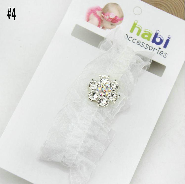 Bebê Headbands Pearl Diamond Crianças Cabeça Faixa de Cabelo Crianças acessório meninas miúdos Acessórios da foto do bebê Props