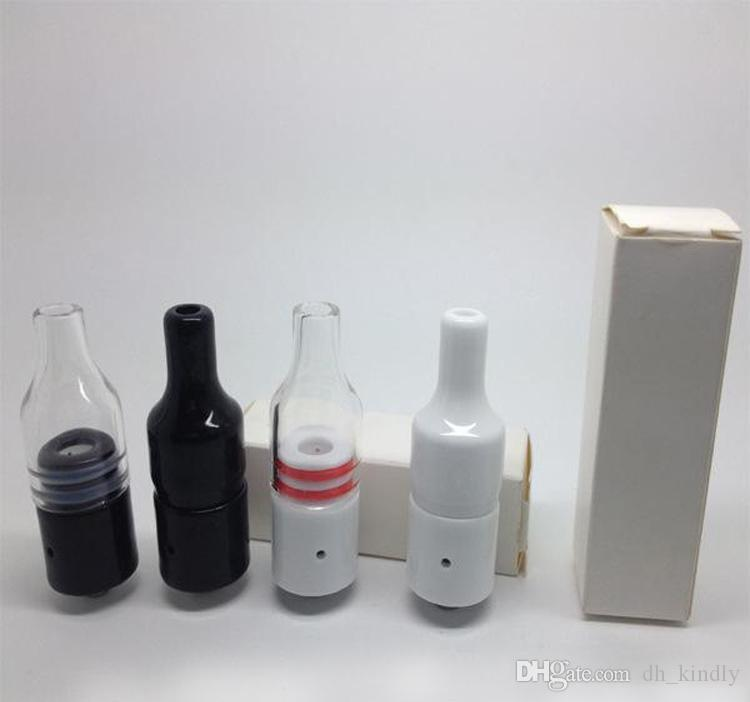 Glass Ceramic Donut Atomizer Full Ceramic Cover For Donut Atomizer black white Dry Herb Wax Vaporizer