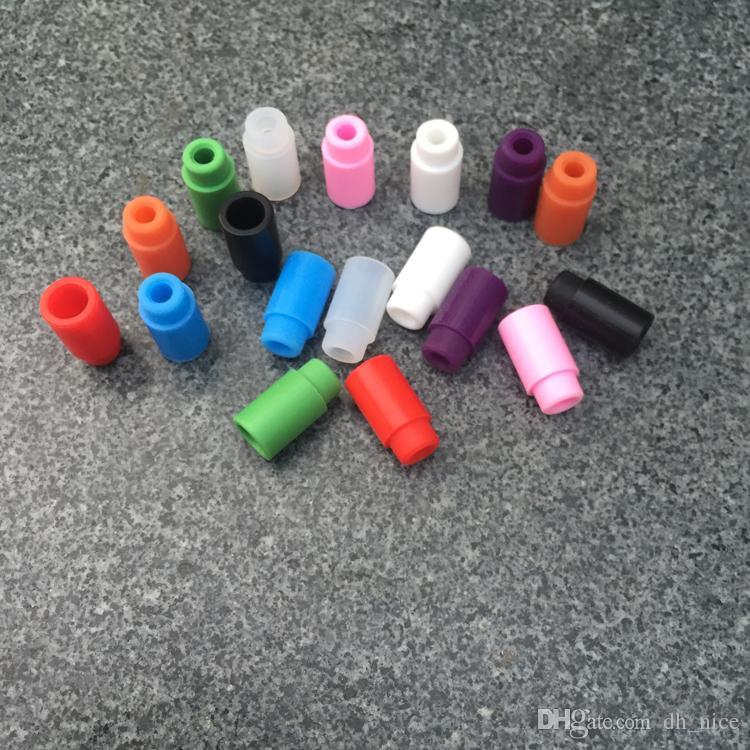 Punta de goteo de goma E puntas de goteo de cigarrillos punta de goteo de silicona vape punta de goteo de silicona 510 para tanque secundario nano rda punta de goteo