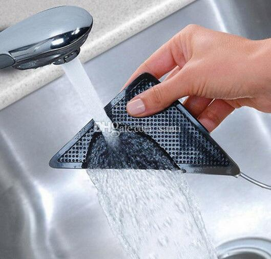 Mobili la casa 4 pezzi / set riutilizzabile Tappeto lavabile Tappeto Mat pinze antiscivolo impugnatura in silicone bagno di casa soggiorno