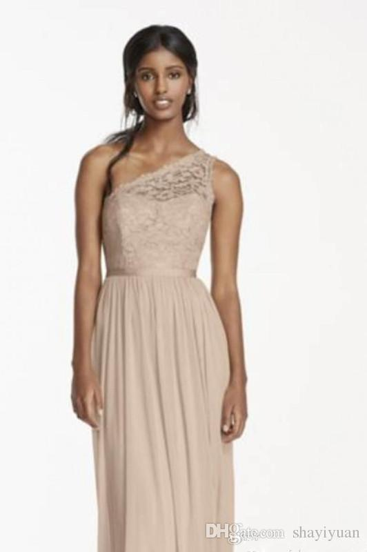 African Lace Bridesmaid Dresses 2017 One Shoulder Fall Winter A Line ...