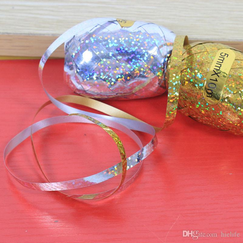 Foil Balloon Ribbon 5mm 10m Wedding Party Decoration Rugby Ribbons
