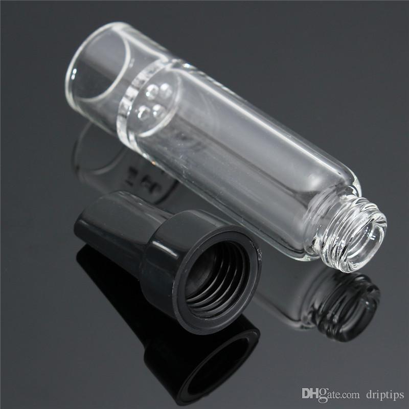 솔라 에어 유리 도구 용 플라스틱 팁 스템 마우스 피스가있는 고품질 70mm 아로마 튜브 PVHEGonG GonG