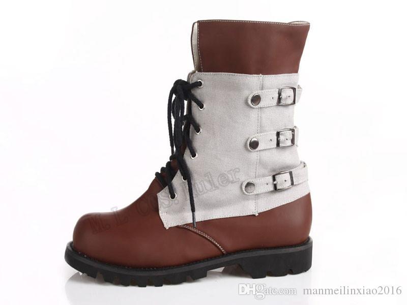 인기 높은 품질의 애니메이션 COS 결승 판타지 13 - Neve Villiers 코스프레 액세서리 부츠 할로윈 손으로 만든 Chrismas 신발