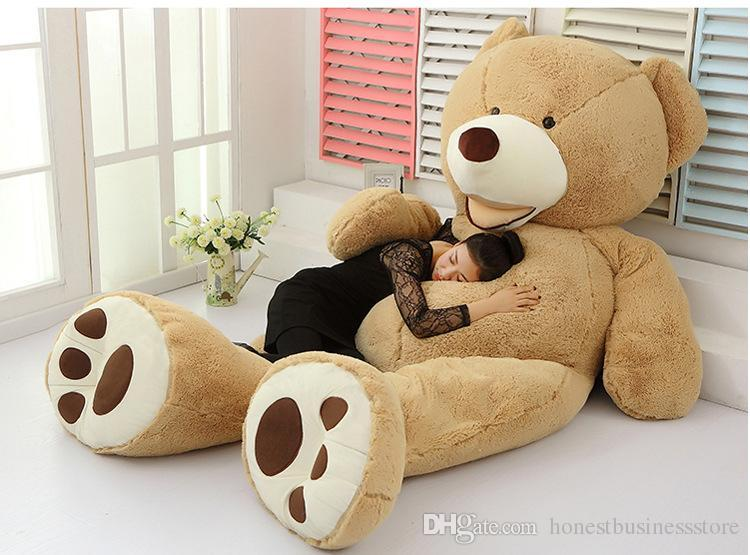 db8b3ffb057 ... EMS 11 FEET TEDDY BEAR STUFFED LIGHT BROWN GIANT JUMBO 134