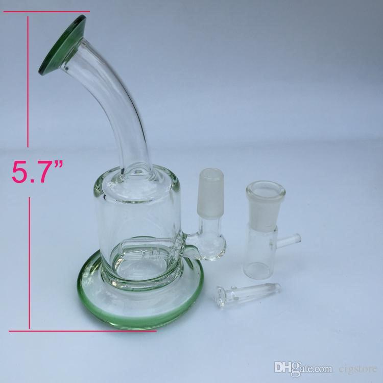 Grün Und Transparent Dick Kleine Glasbongs Tasche Glas Wasserleitungen Recycler Öl Rigs Bong Pfeife Wasserpfeifen Niedriger Preis