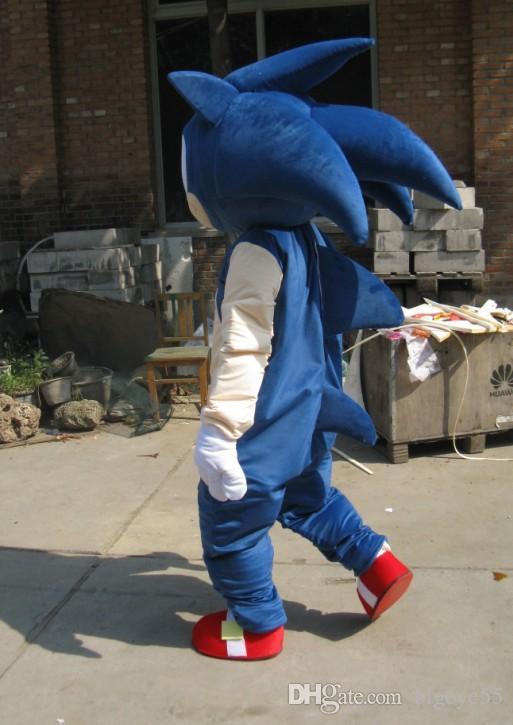 Costume de mascotte Sonic de haute qualité Real Pictures Deluxe en dollars US costume de mascotte taille adulte direct usine livraison gratuite
