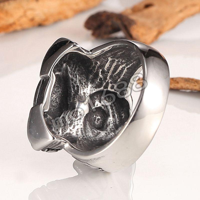 Marca de moda Homens Anéis Anel de Cabeça de Aço Inoxidável Homens Anéis De Jóias de Metal Motor de Harley Do Motor Do Partido Dos Homens de Metal Pesado anel