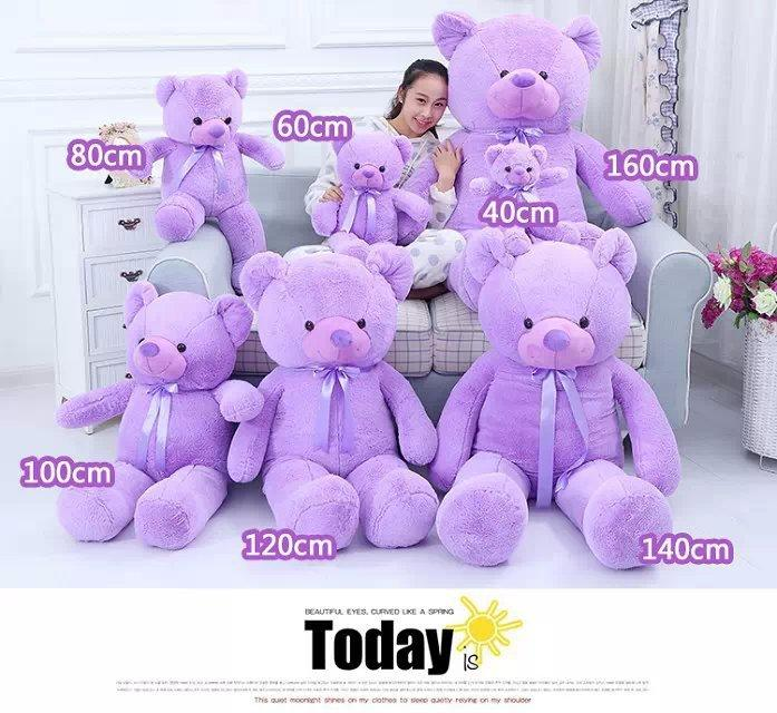 High quality Low price Plush toys various size 40-180cm / lavender-scented teddy bear big embrace bear doll /lovers/ birthday gift