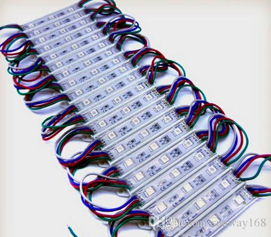 높은 루멘 방수 12V RGB LED 픽셀 모듈 3 개의 LED 5050 SMD 0.72W LED 모듈 80LM 백라이트 LED 용 Channer 편지