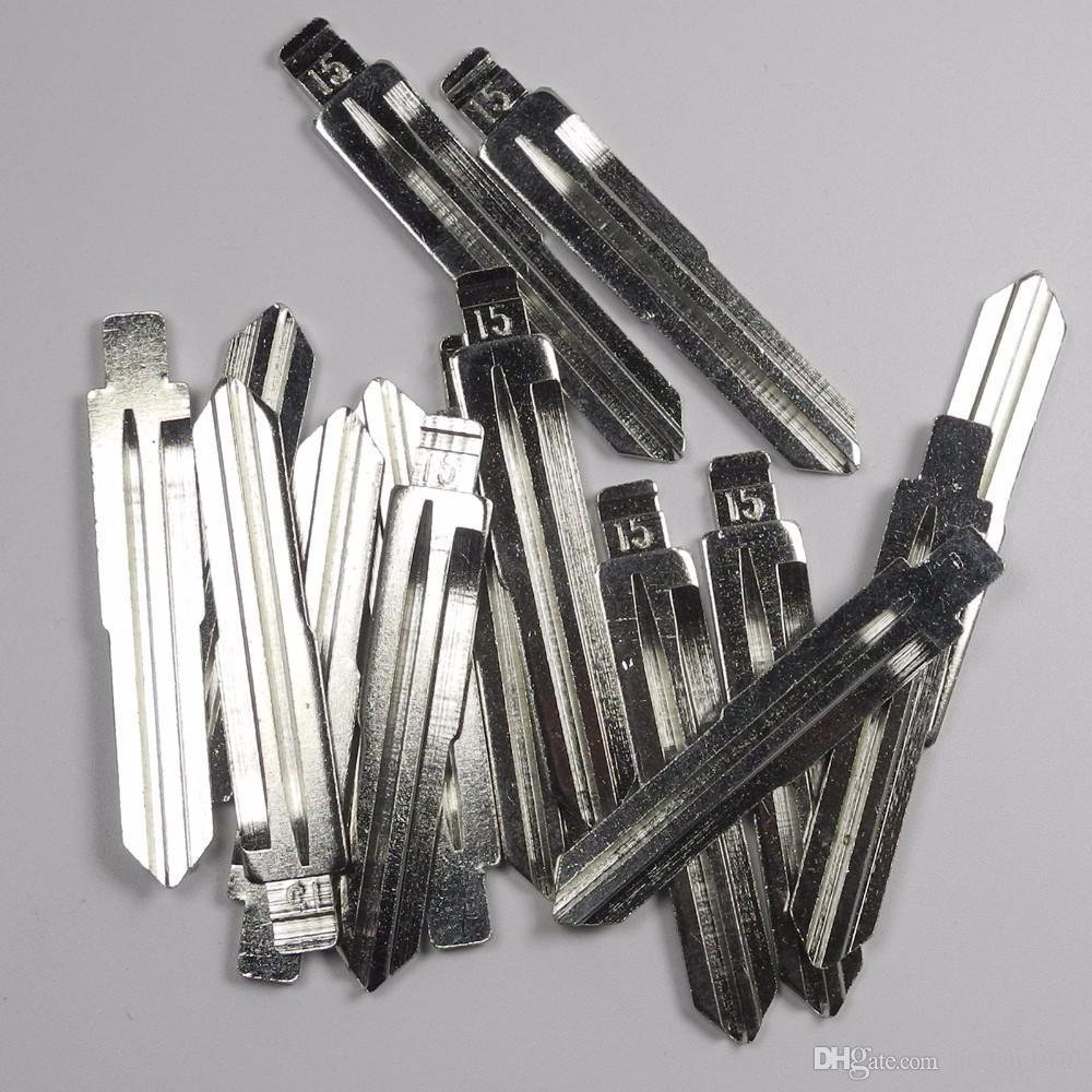 high quality 15# For Chevrolet Spark Buick kia Hyundai 15# Remote Car flip Left Key Blade Blank Keyless Entry System