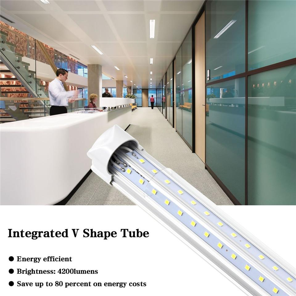 led tube lights 8ft V-Shaped 4ft 5ft 6ft 8ft Cooler Door T8 Led Tube Double Sides Led Fluorescent Lights Stock In USA