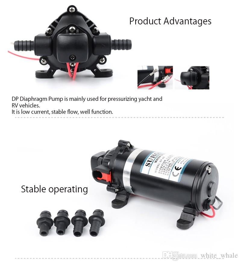 Diaphragm Pump DC 12/24V Use for Chemical Metering House Clean Spray equipment Mini Water Pumps