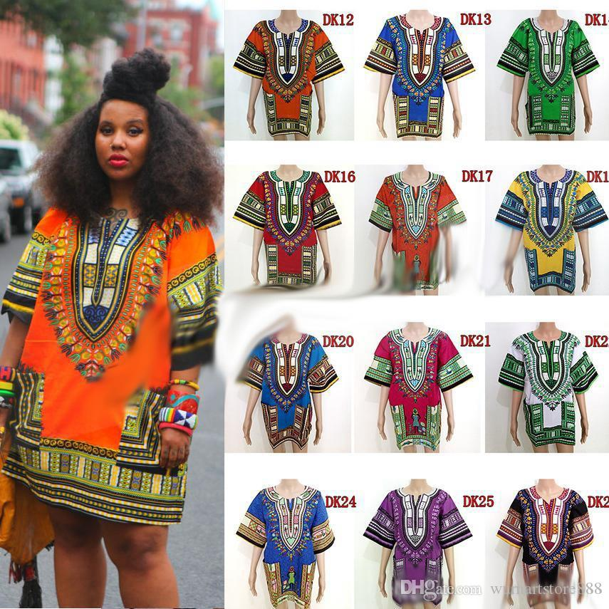 0771492315e49 2019 African Dashiki Dresses For Women Men African Clothes Hip Hop T Shirt  Caftan Vintage Fashion Tribal Mexican Top Ethnic Clothing From  Wumartstore888, ...