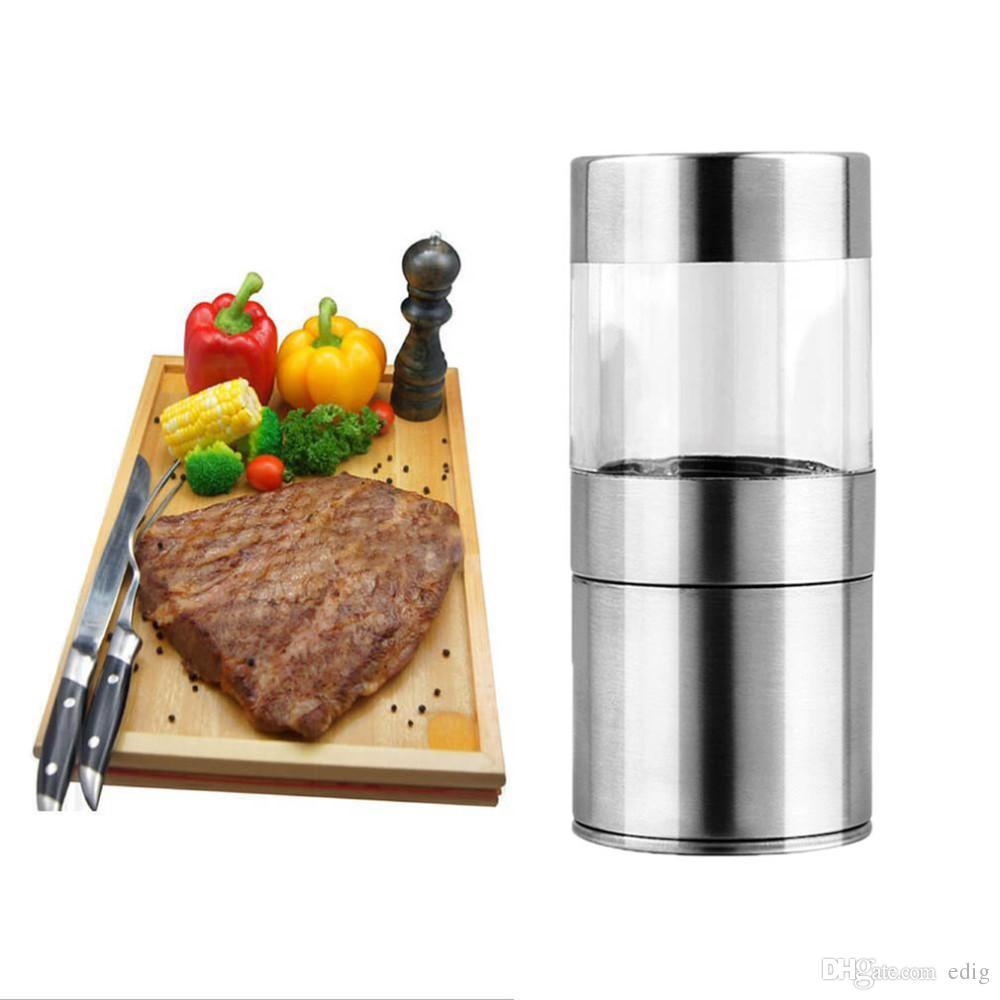Strumento di cottura manuale di alta qualità in acciaio inossidabile sale pepe macinino shaker smerigliatrice pepe macinare Muller