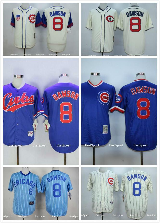 ... chicago cubs 8 andre dawson blue throwback jersey ... 7afe29042