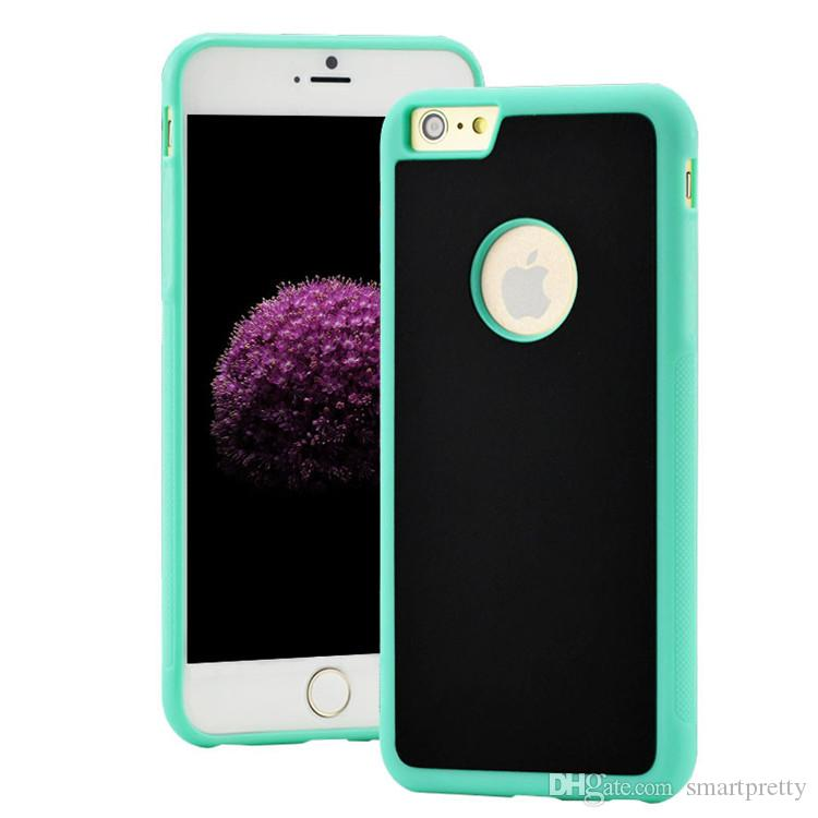 for iphone 7 Anti Gravity Case Selfie case Hybird TPU PC Sticky Antigravity Magical Back Cover case for iphone 5 6 7 plus samsung s8 plus